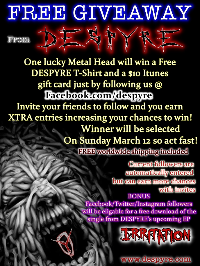Despyre Free Giveaway! | Ultimate Metal - Heavy Metal Forum and